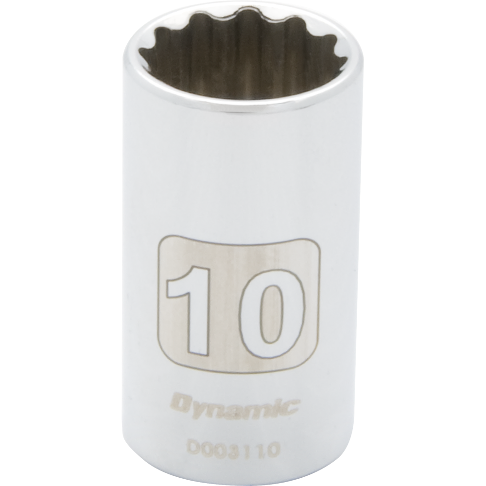 Metric Standard Chrome Sockets-12 Points
