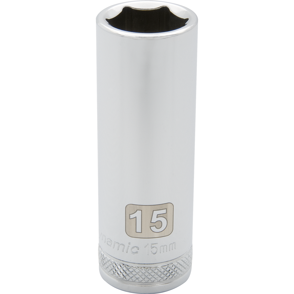 Metric Deep Chrome Sockets-6 Point