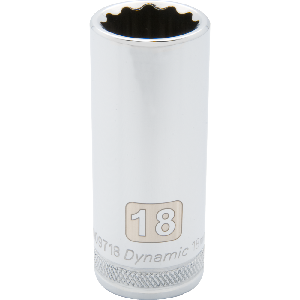 Metric Deep Chrome Sockets-12 Point