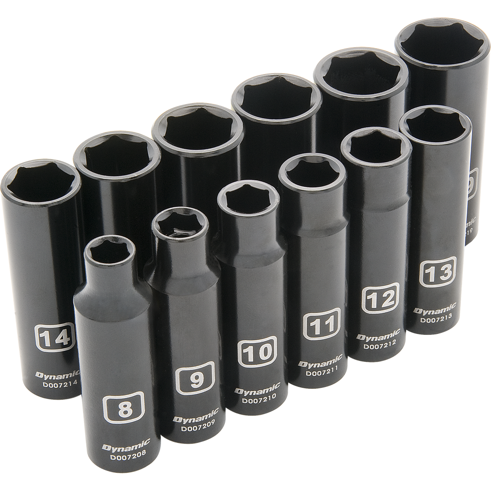 12 Piece 6 Point Deep Metric Impact Socket Set