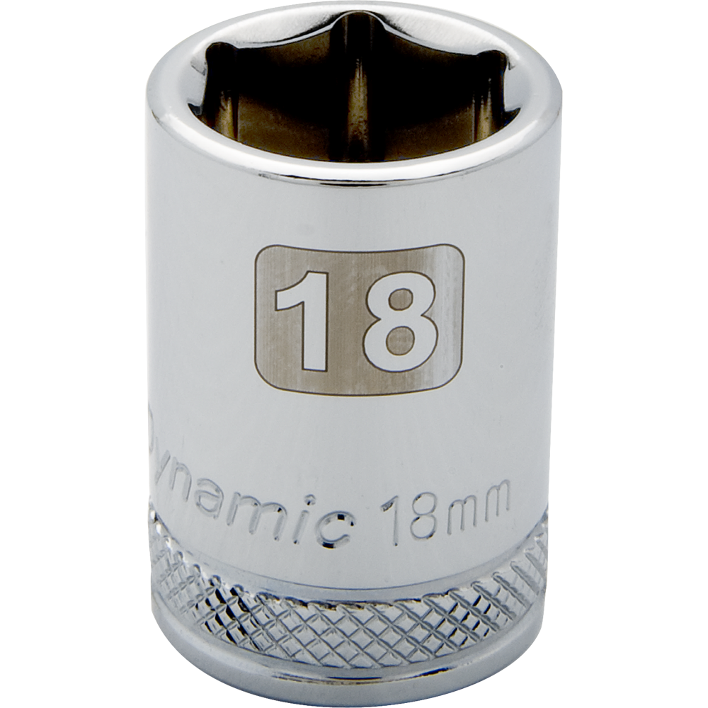 Metric Standard Chrome Sockets-6 Point
