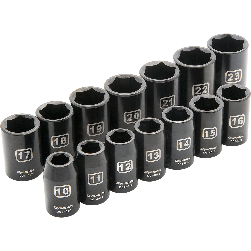 14 Piece 6 Point Standard Impact Metric Socket Set