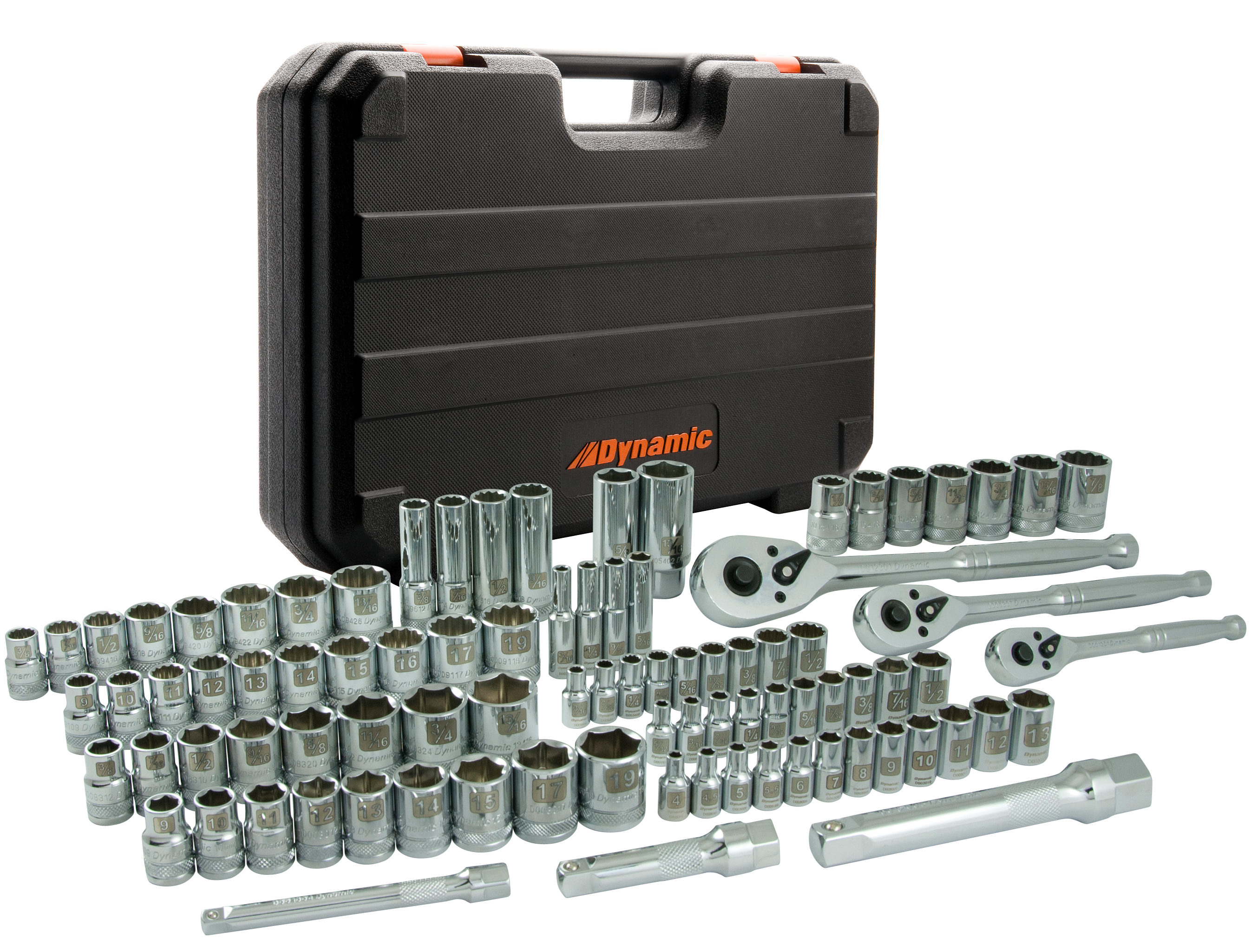 89 Piece 1/4'', 3/8'' & 1/2'' Drive Socket Set